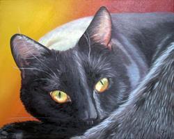 Art: Autumn Eyes II by Artist Leanne Wildermuth