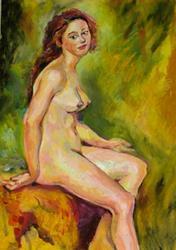 Art: Study sketch of nude female by Artist Luda Angel