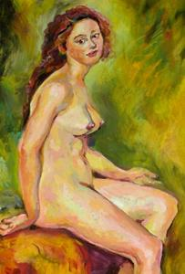 Detail Image for art Study sketch of nude female
