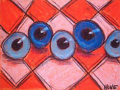 Art: Eyes Down by Artist Amanda Hone