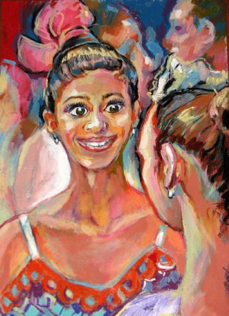 Art: Ballet dancers conversation by Artist Luda Angel