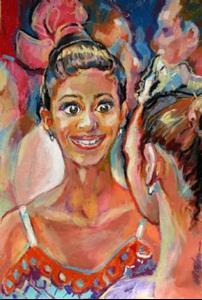 Detail Image for art Ballet dancers conversation