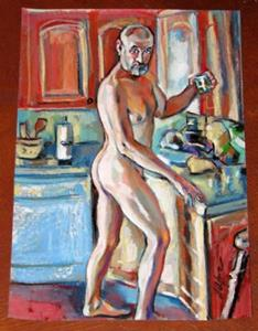 Detail Image for art Glass of water Nude male