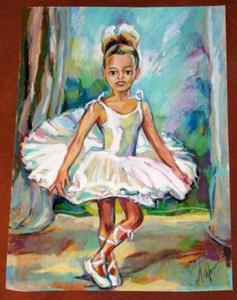 Detail Image for art Young Ballet Dancer