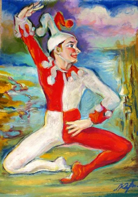 Art: Clown - Dancer in Ballet by Artist Luda Angel