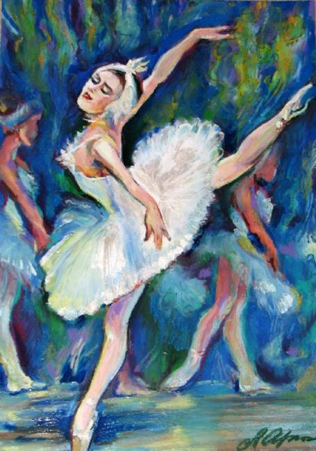 Art: Dancing in Ballet by Artist Luda Angel
