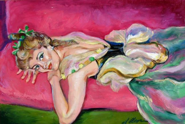 Art: Resting Dancer by Artist Luda Angel