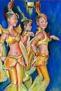Detail Image for art Asian Dancers - Trio