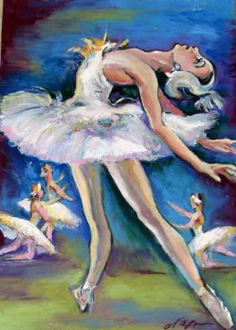 Art: Drawing of the ballerina by Artist Luda Angel