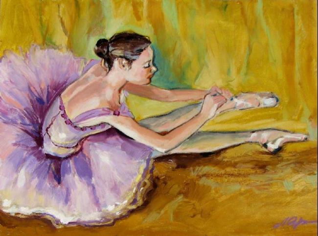 Art: Sitting ballerina by Artist Luda Angel