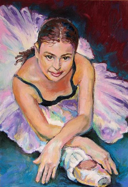 Art: Young Ballerina by Artist Luda Angel