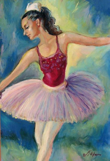 Art: Ballerina on a scene by Artist Luda Angel