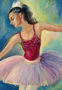 Detail Image for art Ballerina on a scene