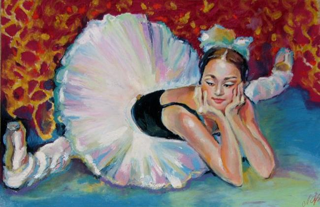 Art: Relaxing Ballet Dancer by Artist Luda Angel