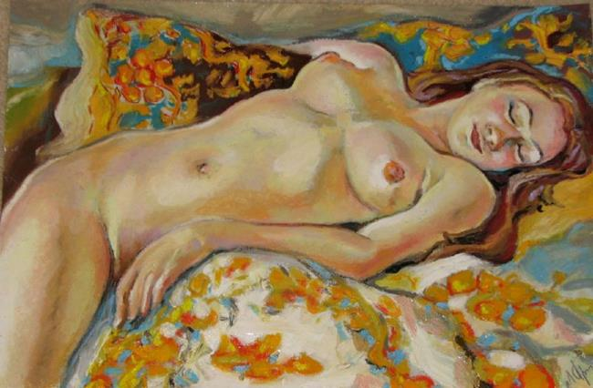 Art: Sleeping nude girl by Artist Luda Angel