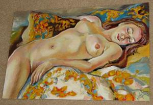 Detail Image for art Sleeping nude girl