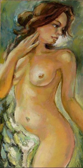 Art: The Posing nude model by Artist Luda Angel