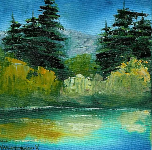 Art: Hidden Pond (Sold) by Artist Kimberly Vanlandingham
