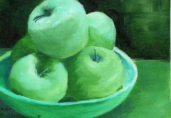 Art: Green Apples (Sold) by Artist Kimberly Vanlandingham