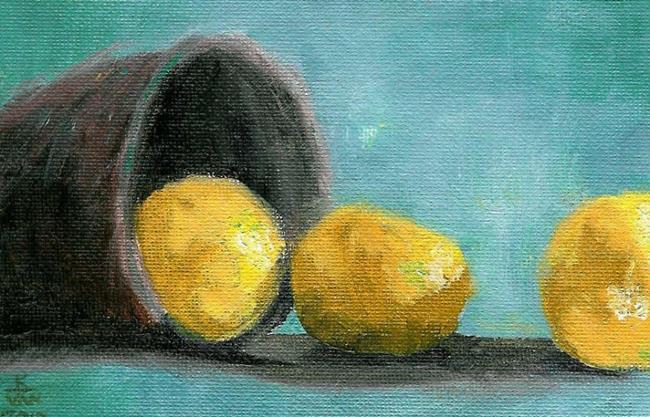 Art: Citris In A Pail by Artist Kimberly Vanlandingham