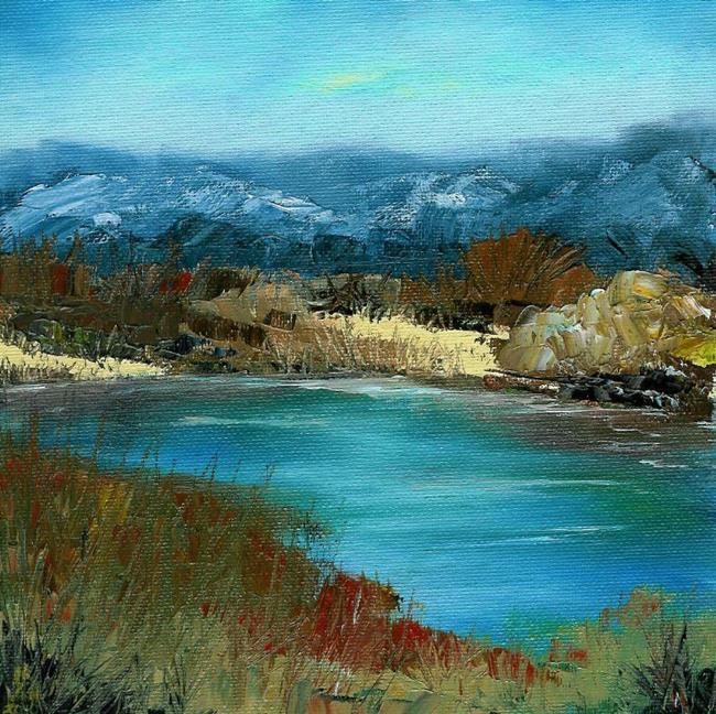 Art: Desert Pond (Sold) by Artist Kimberly Vanlandingham