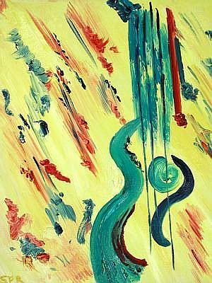 Art: Guitar - Sold by Artist Staci Rose