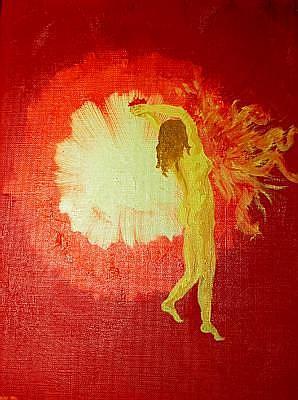 Art: Brigid, Feeding Fire - Sold by Artist Staci Rose