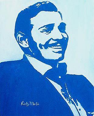 Art: Clark Gable by Artist Ulrike 'Ricky' Martin