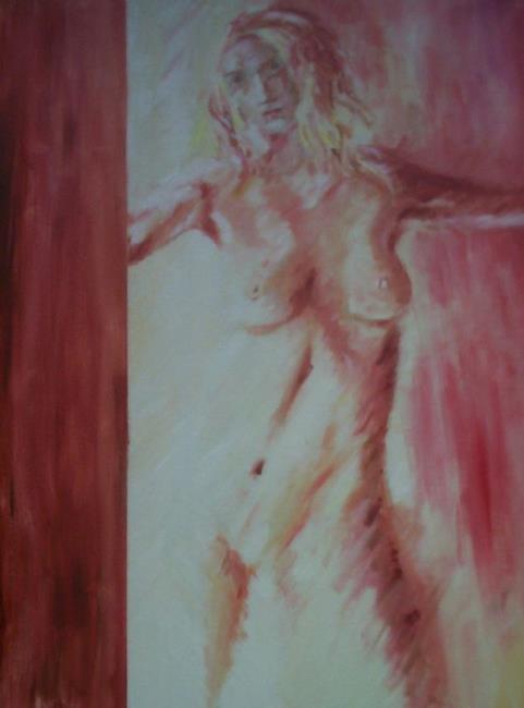 Art: Girl In My Doorway by Artist Karina Keri-Matuszak
