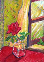 Art: The Birthday Rose by Artist Caite Bonsey