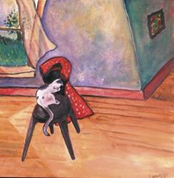 Art: Spot the Cat by Artist Caite Bonsey
