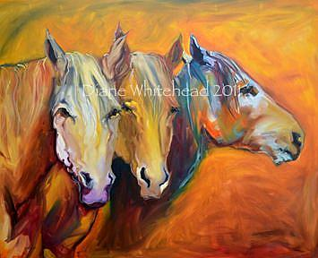 Art: wtmk4860threetownhorse.jpg by Artist Diane M Whitehead