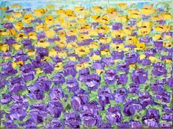 Art: Purple Tulips (s) by Artist Luba Lubin