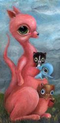 Art: Pinky Pockets by Artist Vicky Knowles
