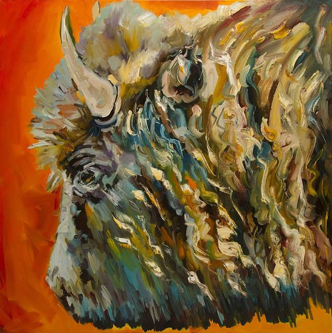Art: Older Than That Bison by Artist Diane M Whitehead