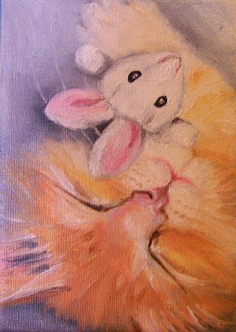 Art: ACEO Kitten by Artist Camille Meeker Turner