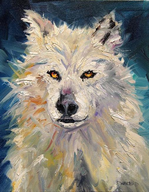 Art: White Wolf by Artist Diane M Whitehead