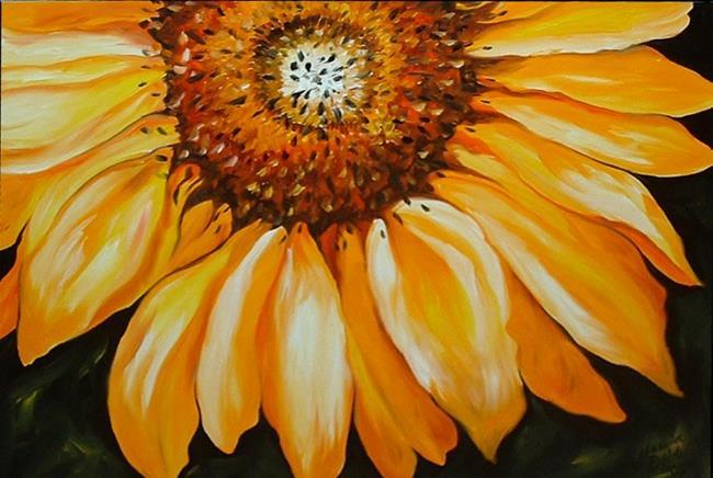 Art: A Sunflower by Artist Marcia Baldwin