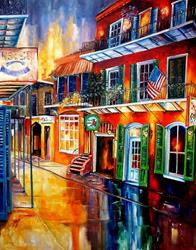 Art: Bourbon Street Red - SOLD by Artist Diane Millsap