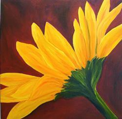 Art: Yellow Daisy Flower by Artist Mary Jo Zorad