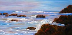Art: Clifornia Coast by Artist Mary Jo Zorad