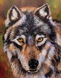 Art: Wolf Wildlife Art by Artist Mary Jo Zorad