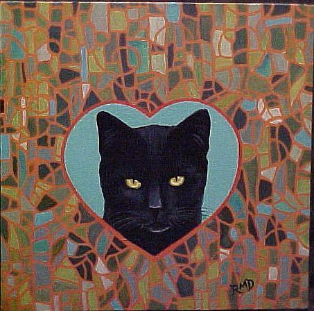 Art: MOSAIC LOVE by Artist Rosemary Margaret Daunis