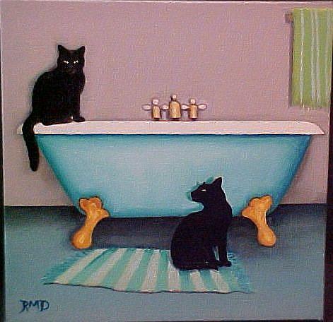 Art: NEW BATHTUB by Artist Rosemary Margaret Daunis