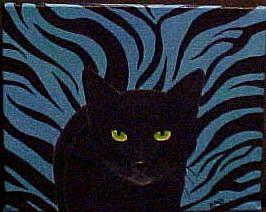Art: BLUE TIGER DESIGN by Artist Rosemary Margaret Daunis