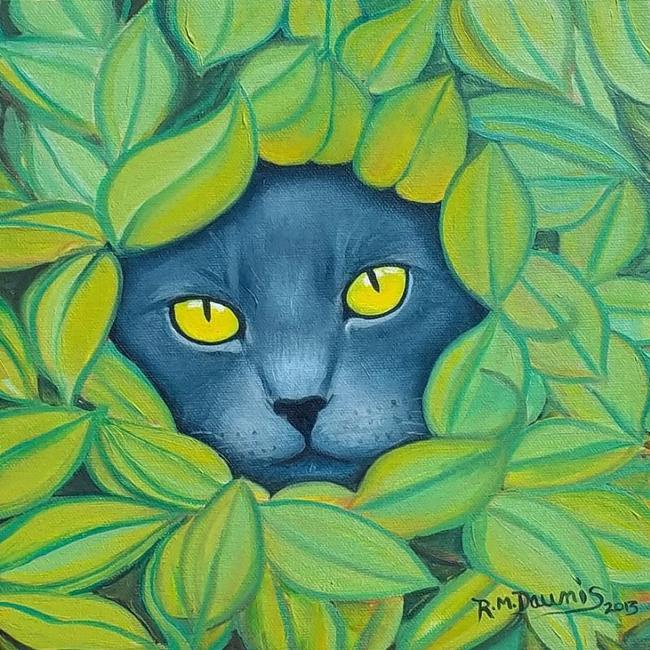 Art: HIDE AND SEEK....Sold by Artist Rosemary Margaret Daunis