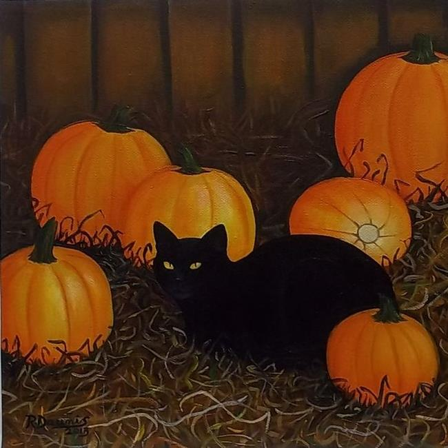 Art: In the Company of Pumpkins Sold by Artist Rosemary Margaret Daunis