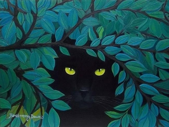 Art: Solitude in the Garden Sold by Artist Rosemary Margaret Daunis