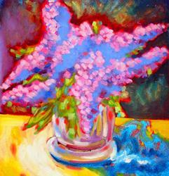 Art: I Love Lilacs! by Artist Susi Franco