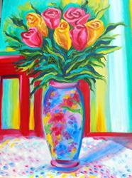 Art: LOVE THIS VASE by Artist Susi Franco